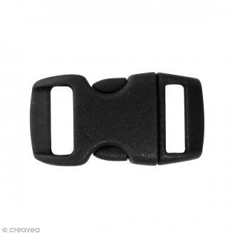 Fermoirs à clip plastique - Noir - 1,5 x 3 cm - 10 pcs