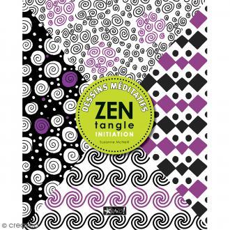Livre dessin méditatif Zentangle - Initiations - A4