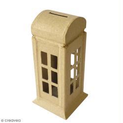 Tirelire cabine téléphonique - 6,5 x 15 cm