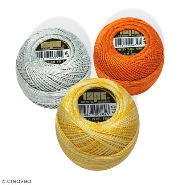 Fil coton perlé ISPE n°8 - 100% coton - 10 g - 82 m - Photo n°1