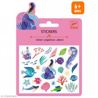 Djeco Mini stickers pailletés - Sous la mer - 21 pcs