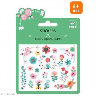 Djeco Mini stickers pailletés - Petites fleurs - 24 pcs