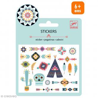 Djeco Mini stickers métalisés - Western - 20 pcs