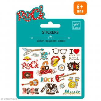 Djeco Mini stickers métalisés - Pop et Rock - 20 pcs