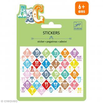 Djeco Mini stickers métalisés - Lettres Saloon - 53 pcs