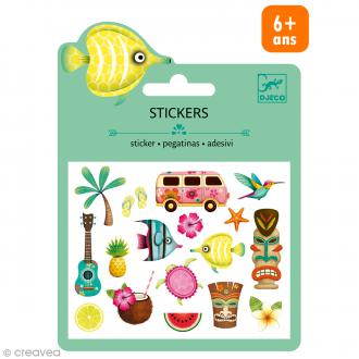 Djeco Mini stickers puffy - Hawaï - 19 pcs
