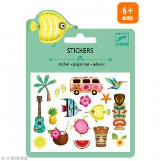 Djeco Mini stickers puffy - Hawaï - 19 pcs