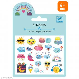 Djeco Mini stickers puffy - Météo - 19 pcs