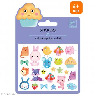 Djeco Mini stickers puffy - Kawaï - 21 pcs