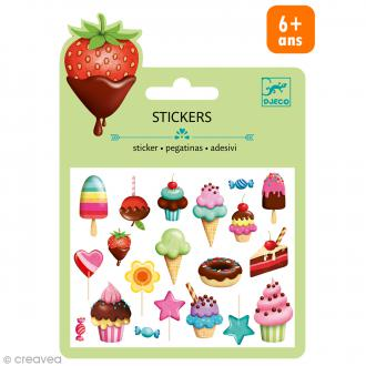Djeco Mini stickers puffy - Sucrés - 17 pcs