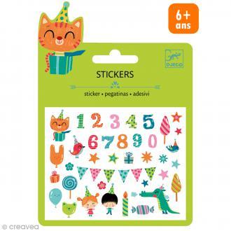 Djeco Mini stickers puffy - Anniversaire - 30 pcs