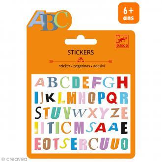 Djeco Mini stickers puffy - Lettres colorées - 47 pcs