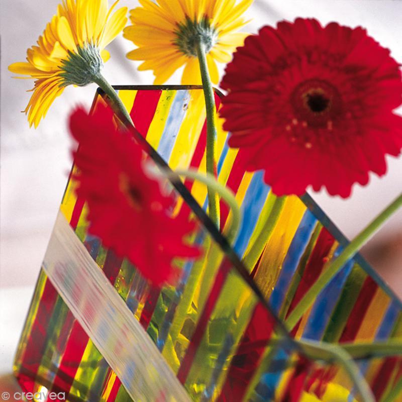 Peinture vitrail Opale - Effet opaque - 45 ml - Photo n°3