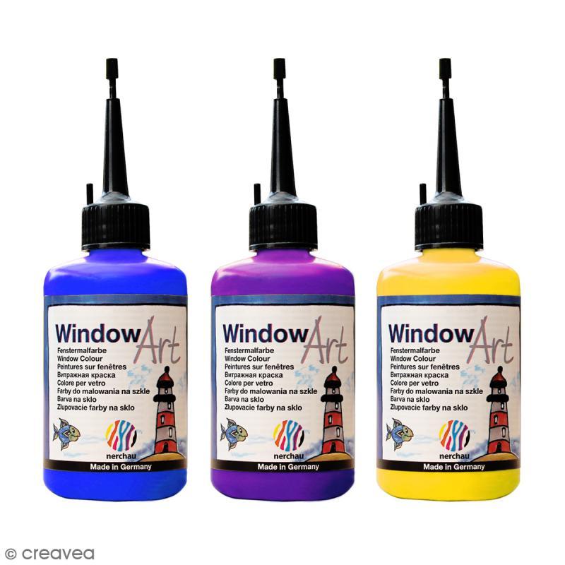 Peinture sur fen tre window art 80 ml peinture for Peinture sur fenetre