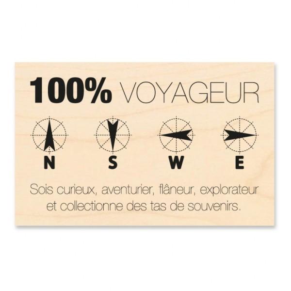 Tampon bois KESI'ART 100% voyageur - Photo n°1