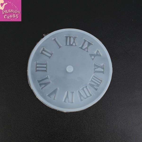 Un Moule Silicone Horloge Pour Résine 105mm - Photo n°1