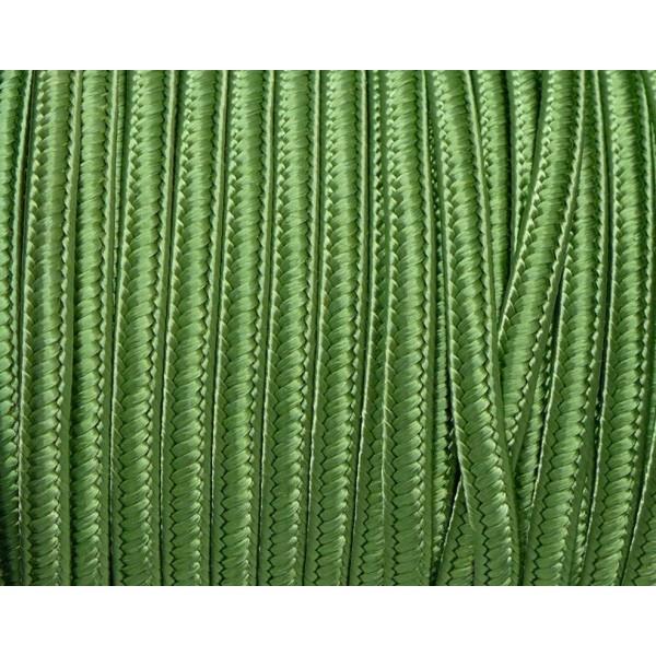 5m Ruban Soutache 4mm De Couleur Vert Olive Satiné - Photo n°2