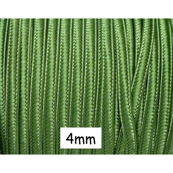 5m Ruban Soutache 4mm De Couleur Vert Olive Satiné - Photo n°1