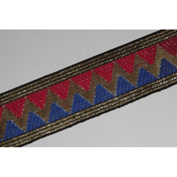Galon brodé géométrique ou ruban de 4.5 cm de large - Photo n°2