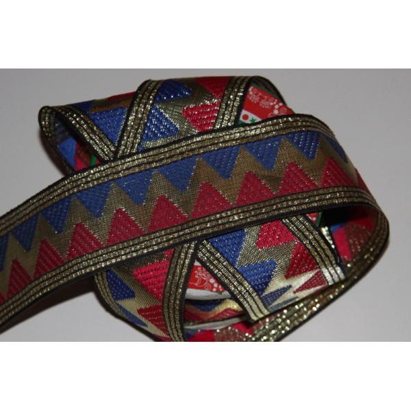 Galon brodé géométrique ou ruban de 4.5 cm de large - Photo n°3