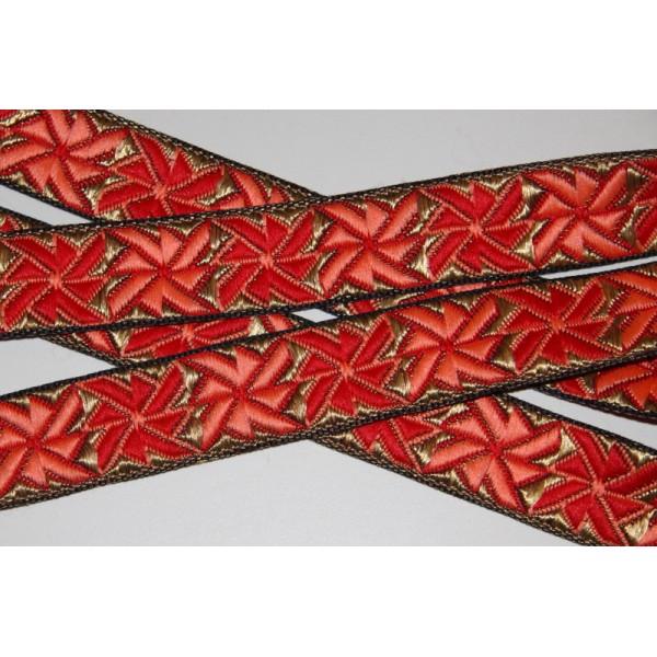 Galon brodé géométrique ou ruban de 2.5 cm de large - Photo n°2