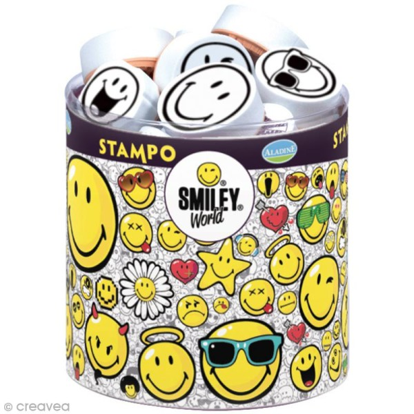 Kit de 38 tampons Stampo - Smiley World - Photo n°1