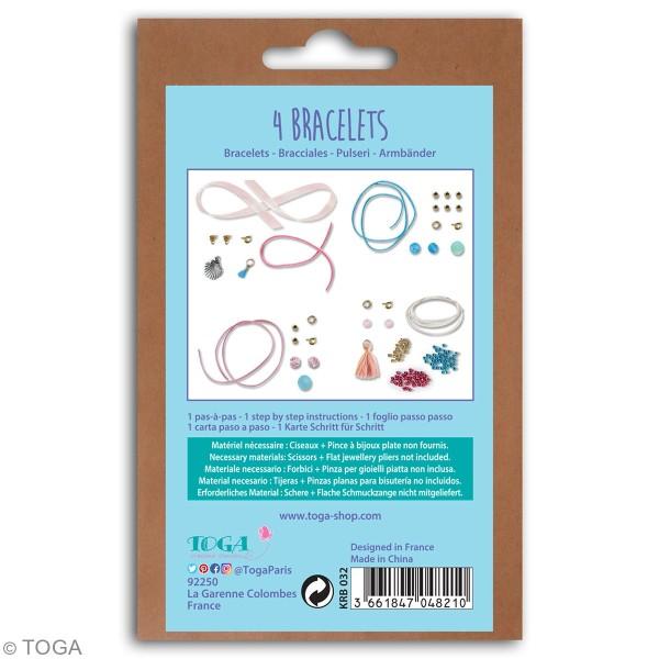 Kit bijoux Toga - Bracelet d'amitié Sirène - 4 pcs - Photo n°2