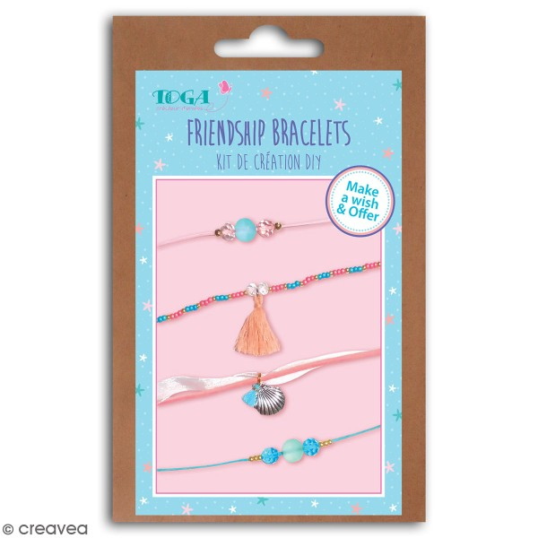 Kit bijoux Toga - Bracelet d'amitié Sirène - 4 pcs - Photo n°1
