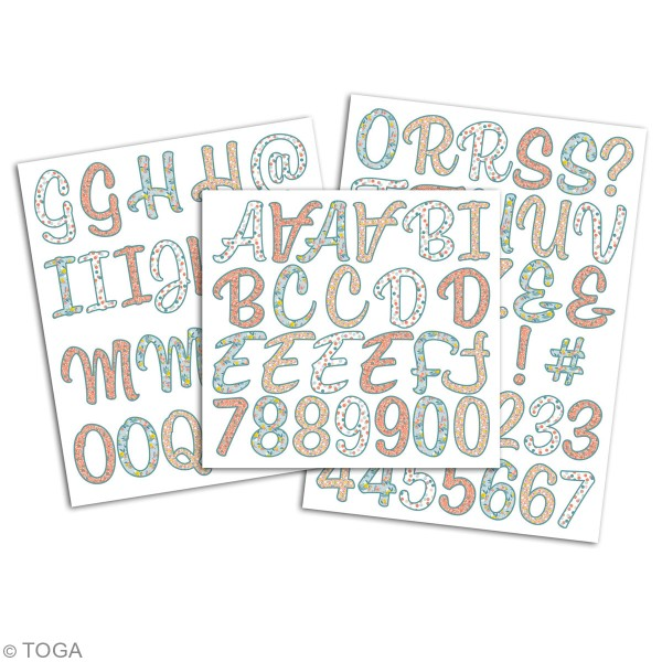 Stickers alphabet flex thermocollant - Collection Oh La La - 83 pcs - Photo n°2