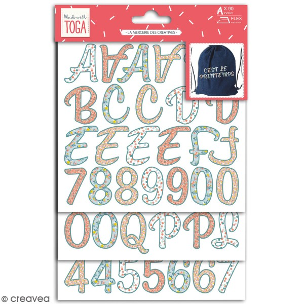 Stickers alphabet flex thermocollant - Collection Oh La La - 83 pcs - Photo n°1