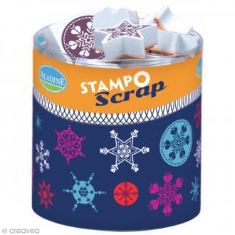 Kit de 26 tampons Stampo scrap - Etoiles des neiges