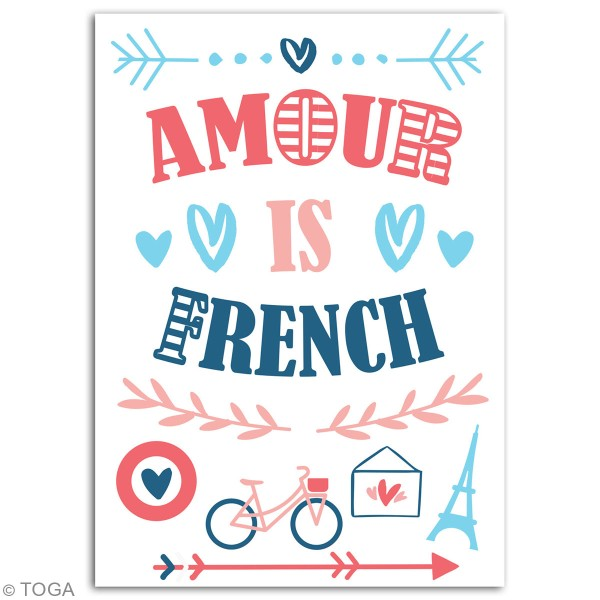 Stickers flex thermocollant A5 - Amour is french - Photo n°3