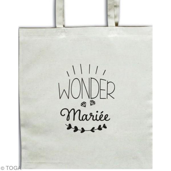 Stickers flex thermocollant A5 - Wonder maman / mariée / témoin / maîtresse - Photo n°2