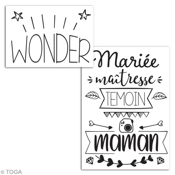 Stickers flex thermocollant A5 - Wonder maman / mariée / témoin / maîtresse - Photo n°3
