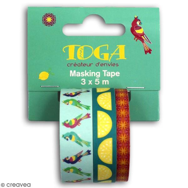 Masking tape Toga - Hacienda à Cuzco - 3 pcs - Photo n°1