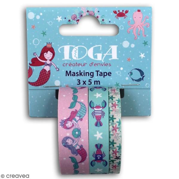 Masking tape Toga - Sous la mer - 3 pcs - Photo n°1