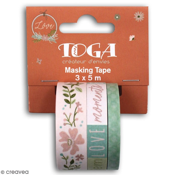 Masking tape Toga - Maison de Campagne - 3 pcs - Photo n°1