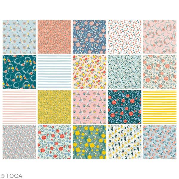 Papier Origami Recto/verso - Oh La La - 15 x 15 cm - 100 feuilles - Photo n°3