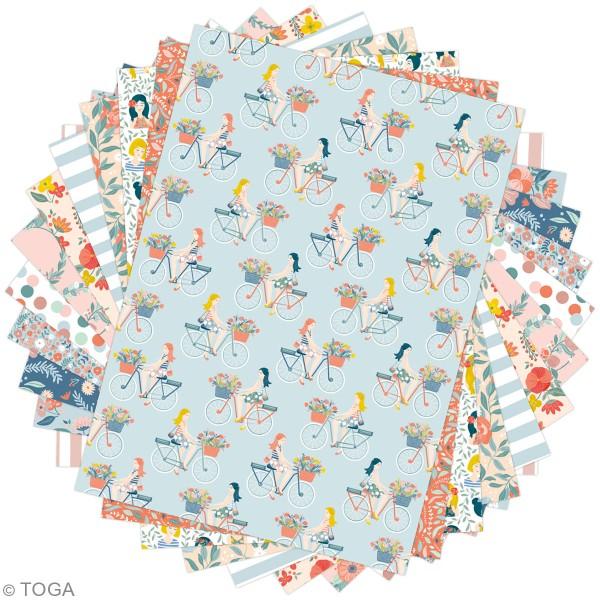 Papier scrapbooking Toga - Color factory - Oh La La - 36 feuilles A5 - Photo n°2