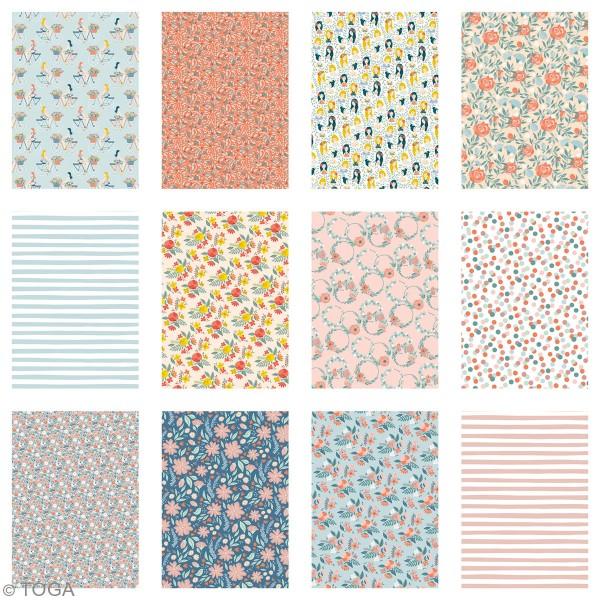 Papier scrapbooking Toga - Color factory - Oh La La - 36 feuilles A5 - Photo n°3