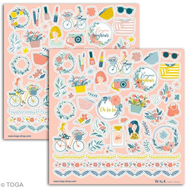 Stickers Toga - Oh La La - 2 planches de 15 x 15 cm - Photo n°2