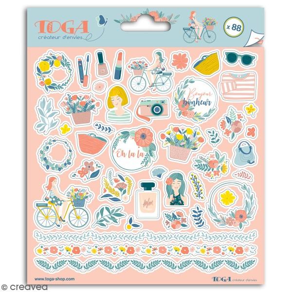 Stickers Toga - Oh La La - 2 planches de 15 x 15 cm - Photo n°1