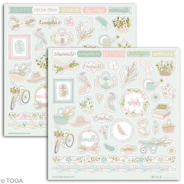 Stickers Toga - Maison de Campagne - 2 planches de 15 x 15 cm - Photo n°2