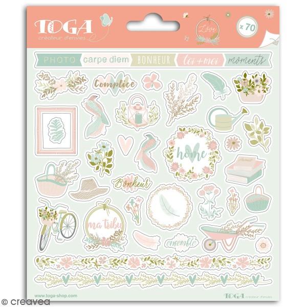Stickers Toga - Maison de Campagne - 2 planches de 15 x 15 cm - Photo n°1