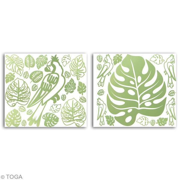 Stickers Fantaisie peel off - Hacienda à Cuzco - vert clair  - 2 planches - Photo n°2