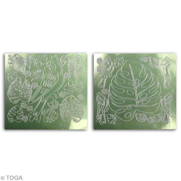 Stickers Fantaisie peel off - Hacienda à Cuzco - vert clair  - 2 planches - Photo n°3
