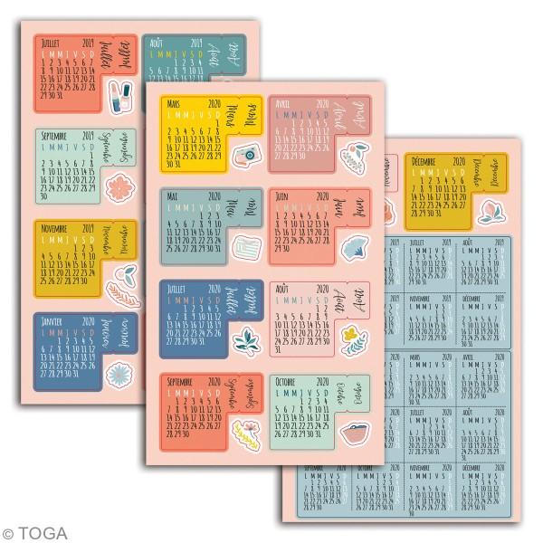 Stickers Onglets avec agenda 2019-2020 Toga - Oh La La - 18 pcs - Photo n°2
