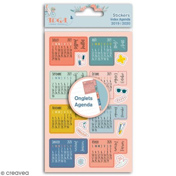 Stickers Onglets avec agenda 2019-2020 Toga - Oh La La - 18 pcs - Photo n°1