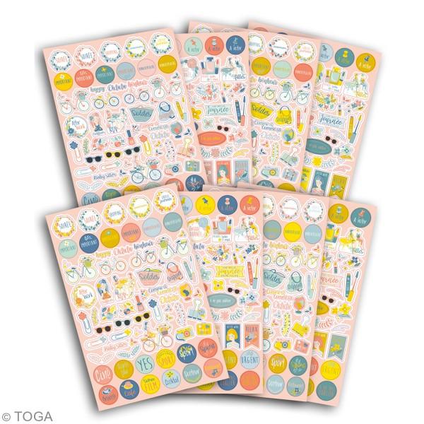 Stickers agenda planner organisation Toga - Oh La La - 500 pcs - Photo n°2