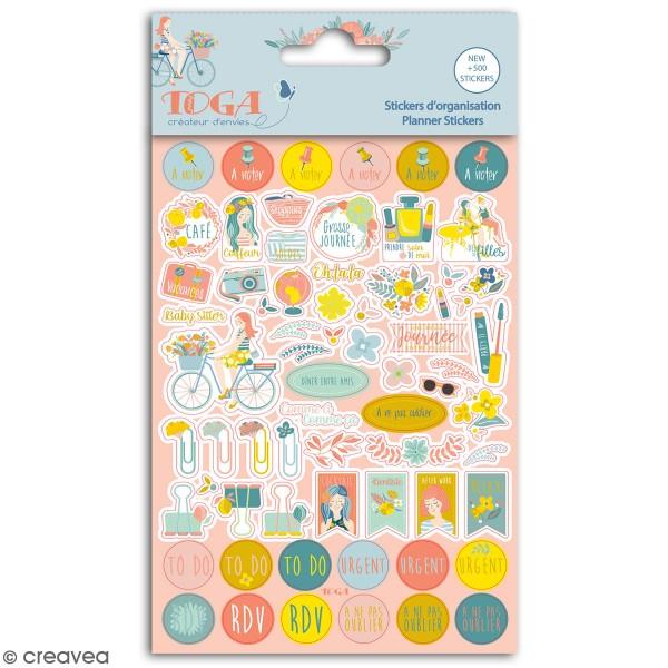 Stickers agenda planner organisation Toga - Oh La La - 500 pcs - Photo n°1